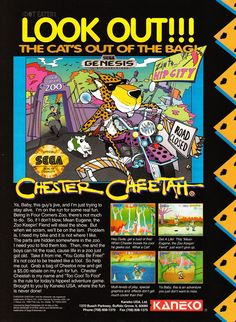 Chester Cheetah (Genesis) 1992.