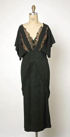 Dress, Gilbert Adrian, ca. 1942, American, rayon, silk