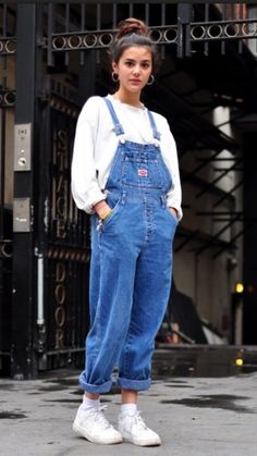 jeans 90s style 90's shirt dungarees jumpsuit denim jumpsuit