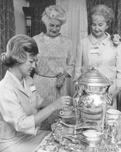 Tea parties were favored settings for fundraisers; here, 1965 in Denver.  Denver Post file photo
