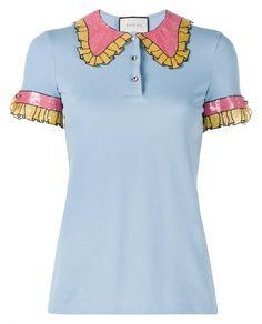 Trompe L'Oeil Sequin Polo Shirt