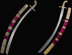 Ottoman sabre with silver-gilt mounts set with turquoise and gold-inlaid jade…