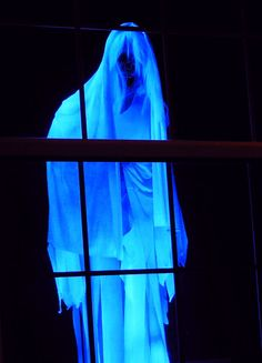 Floating ghost (similar to Creepshow Creep ) outside window from The Gallows .