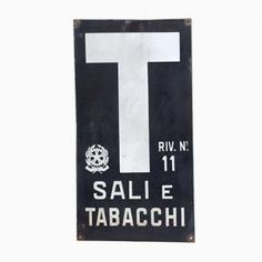Vintage Italian Tobacconist's Sign on Pamono now!