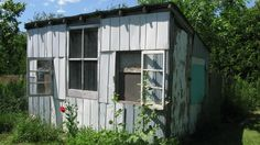 """""""shed made from scrap metal"""""""