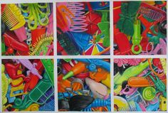 Squashed Cracker Toys, Giclée print (from a drawing) by Robert Strange | Artfinder