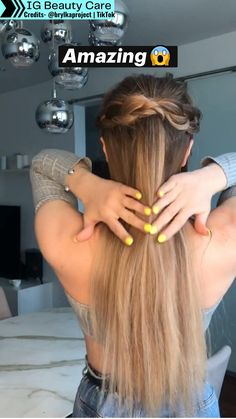 Hairdo For Long Hair, Easy Hairstyles For Long Hair, Easy School Hairstyles, Hair Up Styles, Medium Hair Styles, Girls Long Hair Styles, Long Hair Ponytail Styles, Work Hairstyles, Beach Hairstyles