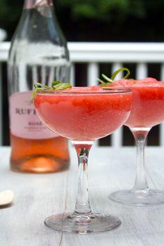 Watermelon Rosé Slushies | We Are Not Martha