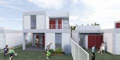 Térreo Arquitetos - 1º lugar no concurso nacional de habitação social - brasil (df) Mansions, House Styles, Outdoor Decor, Popular, Home Decor, Social Housing, Arquitetura, Brazil, Lugares