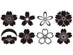 """Search Results for """"Sakura"""" Japanese Patterns, Japanese Design, Japanese Art, Henna Patterns, Flower Patterns, Logos Photography, Flower Drawing Images, Flower Drawings, Japan Logo"""