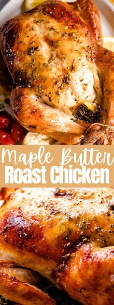 Baked Whole Chicken Recipes, Easy Roasted Chicken Recipe, Whole Roasted Chicken, Roasted Chicken Breast, Roast Chicken Recipes, Stuffed Whole Chicken, Whole Roast Chicken Recipe, Roast Chicken Marinade, Easy Roast Chicken