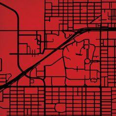 Texas Tech University | City Prints Map Art