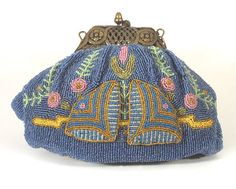French Victorian-style beaded bag, early 20th century