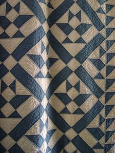 Antique blue and white basket pattern quilt