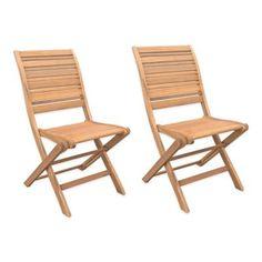 Westerly Acacia Wood Folding Chairs (Set of 2) - BedBathandBeyond.com