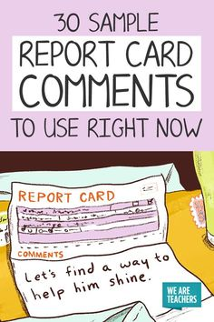 report card comments for ell