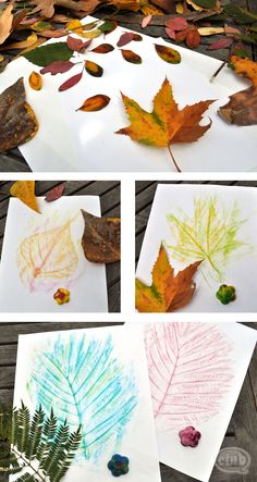 Summer Leaf collage..okay they are calling it 'fall leaf', but you can do this craft all summer long...