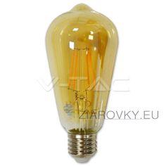 FILAMENT žiarovka - TEARDROP - E27, Teplá biela, 4W, 350lm, V-TAC Vista Lighting, Led Filament, Lighting Online, Lampe Led, Save Energy, Light Bulb, Glass, Barcelona, Industrial