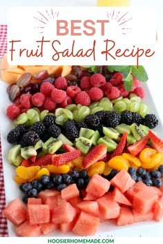 Best Fruit Salad, Dressing For Fruit Salad, Fruit Salad Recipes, Fruit Salads, Breakfast Fruit Salad, Fresco, Appetizer Display, Fruit Salad With Marshmallows, Charcuterie Recipes