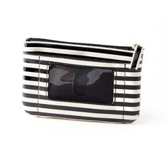 Apt. 9 women's wallet Coin Pouch Key Chain striped man made black white NEW 14.99 free us shipping http://www.ebay.com/itm/-/262025287089?
