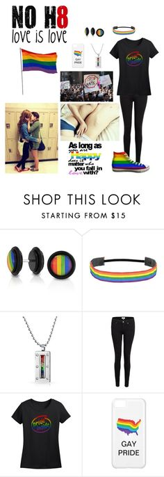 """""""LGBT+"""" by sleepingwithbxnds ❤ liked on Polyvore featuring Bling Jewelry, Paige Denim and Baggins"""