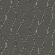 York Wallcoverings Tone On Tone Waves Dark Grey Peelable Paper Prepasted Classic Wallpaper