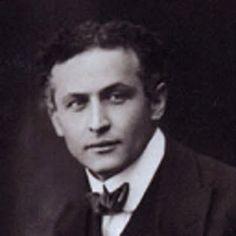 The famous magic man Houdini.