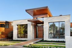 Contemporary Green Home California 2 Contemporary Green Home Charms With Sleek Pool And Mini Golf Small House Exteriors Small House Architecture House Exterior