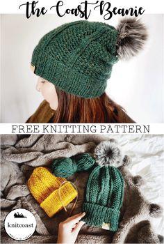 A Free Beanie Knitting Pattern by Knitcoast