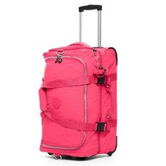 Teagan Small Wheeled Duffle in Vibrant Pink #Kipling 13.5 L X 12.25 H X 23 D #KiplingSweeps