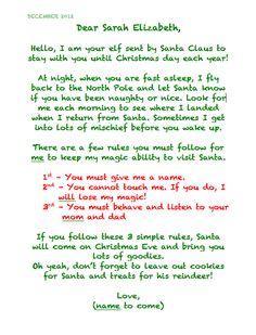 Elf's letter! More