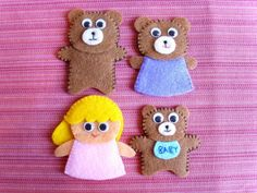 Goldilocks And The Three Bears Finger Puppets #storytime #books #reading #play #mooshka #pretend