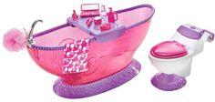 Mattel T7537 - Barbie Bathroom, mit Badewanne, Frisiertisch, Toilette und Badeutensilien Mattel Barbie http://www.amazon.de/dp/B0042ESH8W/ref=cm_sw_r_pi_dp_5yHbxb0SF9RKX