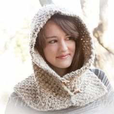 Loom Knit Country Hood With Cowl PATTERN. Beginner friendly PATTERN. This is not a finished Item. PATTERN DESCRIPTION: Designed with maximum warmth and comfort in mind, this chunky Loom Knit Hood with Cowl is perfect for layering throughout the winter season. It's an easy knit and would make a perfect gift too. Hood can be worn up or down!
