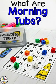 Morning Tubs are fun, hands-on activities that are designed for your students to work on independently at the start of the day. These entertaining and engaging educational activities are aligned with the standards so your students are learning and reviewing concepts while they play. Your students will investigate, problem solve, build social skills, and much more! Click on the picture to learn more and get a free sample about this morning work alternative! #morningtubs #morningwork #morningbins
