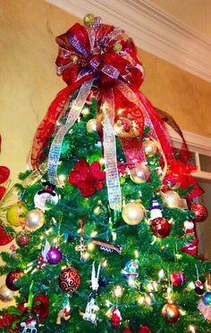 Christmas Tree Topper Bows