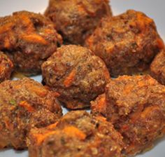 Natural Farmacy: Messy Apron Recipes: Chicken and Sweet Potato Meatballs