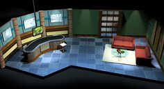This is the 3D design created for the project, but we are making major changes as far as color schemes and furniture goes.