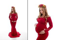 Fitted Maternity Gown / Emerlie Gown / by SewTrendyAccessories Just ordered, so beautiful