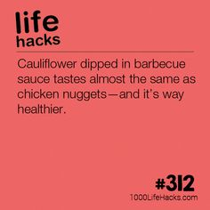 cooking tips - Cauliflower Dipped in BBQ Sauce 1000 Life Hacks Simple Life Hacks, Useful Life Hacks, 1000 Lifehacks, Food Facts, Things To Know, Cooking Tips, Food Tips, Cooking Recipes, Healthy Life