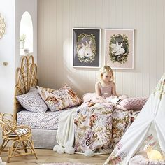 Adairs Kids – Fleur Harris Woodland Quilt Cover Set – Top Of The World Woodland Room, Woodland Theme Bedroom, Adairs Kids, Quilt Cover Sets, Little Girl Rooms, Kid Beds, New Room, Girls Bedroom, Bedroom Ideas