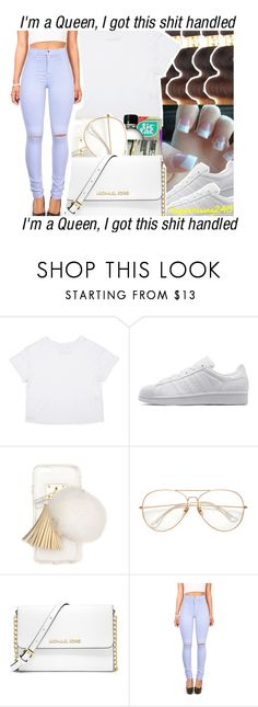 """Prolly x Sevyn Streeter ft. Gucci Mane"" by queenswag245 ❤ liked on Polyvore featuring adidas Originals, Ashlyn'd, MICHAEL Michael Kors and Vibrant"