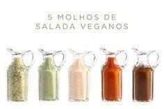 5 receitas de molho de salada vegano