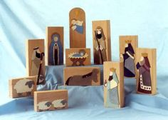 Woodworking Patterns Christmas with kids--make one block a week for 12 weeks (add a camel) while leading up to Christmas day. Christmas Nativity Scene, Nativity Crafts, Christmas Wood, Kids Christmas, Christmas Ornaments, Nativity Scenes, Felt Ornaments, Christmas Bells, Wood Block Crafts