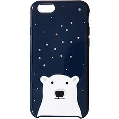Kate Spade New York Sparkle Polar Bear Resin Phone Case for iPhone 6 at Couture.Zappos.com
