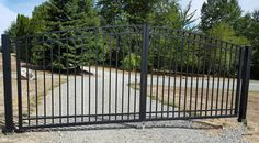 ALUMINUM DOUBLE SWING DRIVEWAY GATE 17' WIDE