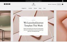 Journey – Blog Website Template Blog Websites, Magazine Website, Grid Layouts, Web Design Inspiration, App Icon, Website Template, Tool Design, Free Design, Cards Against Humanity