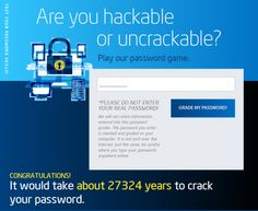Are you hackable or  uncrackable?  How strong is your password?