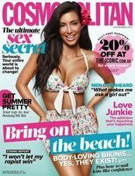 Kim Kardashian Cosmopolitan Magazine Australia November