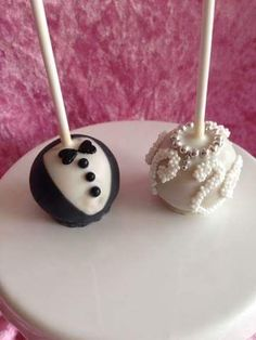 Braut und Bräutigam Cake Pops
